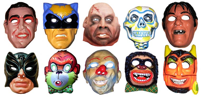 Massive Vintage Halloween Mask Collection (12)
