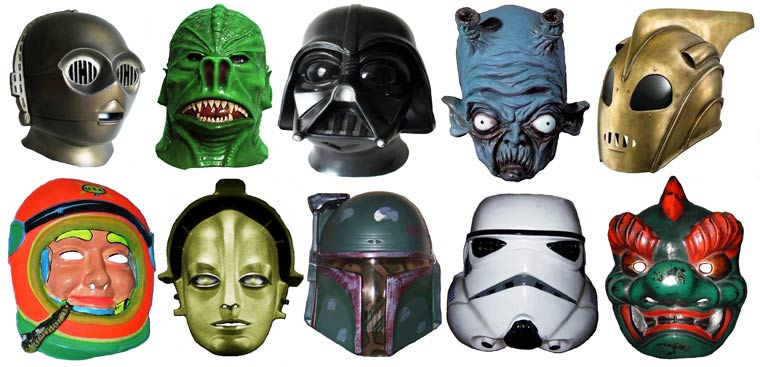 Massive Vintage Halloween Mask Collection (17)
