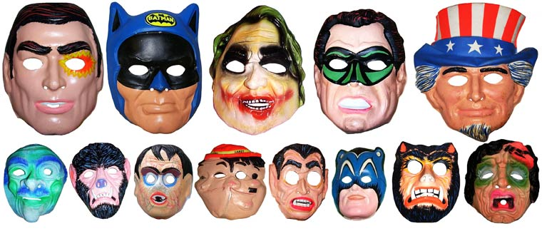 Massive Vintage Halloween Mask Collection (21)