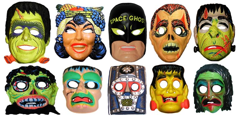 Massive Vintage Halloween Mask Collection (23)