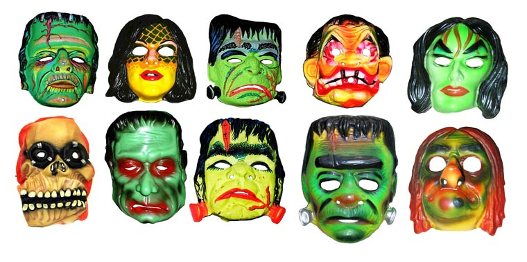 Massive Vintage Halloween Mask Collection (3)
