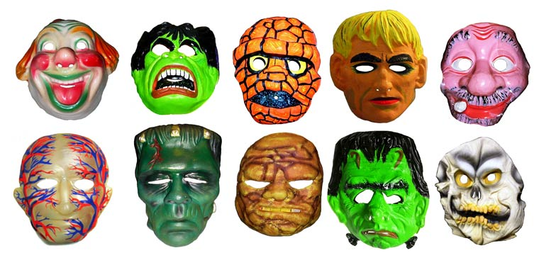 Massive Vintage Halloween Mask Collection (8)