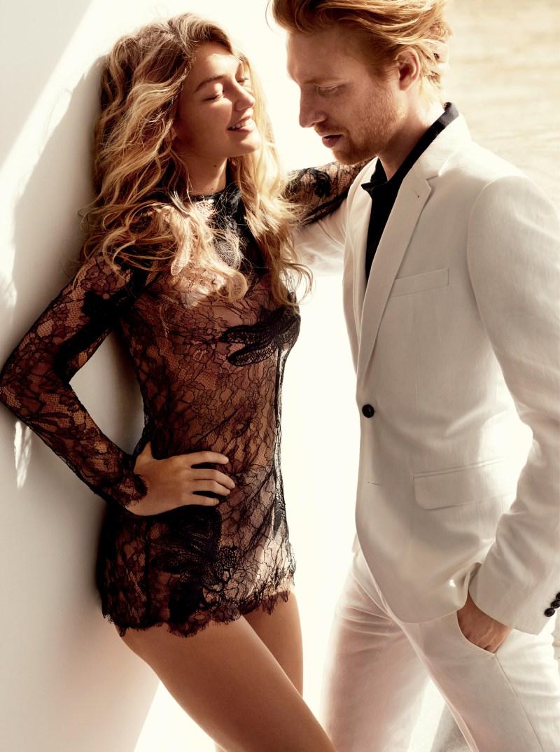 Gigi Hadid & Domhnall Gleeson by Mario Testino (5)