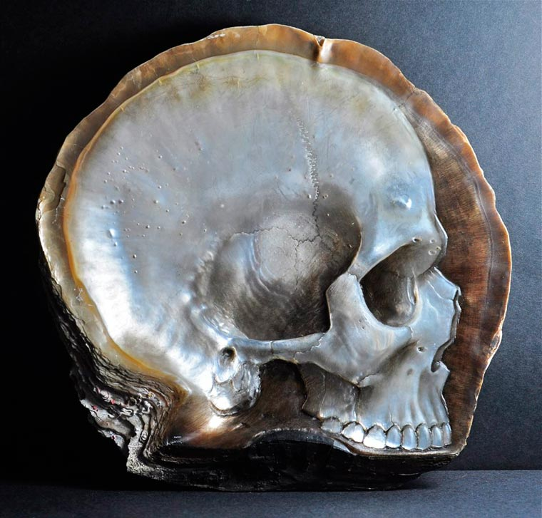 Skull Carved Seashells by Gregory Halili (2)