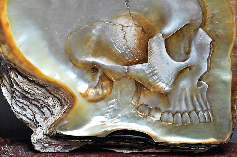 Skull Carved Seashells by Gregory Halili (6)
