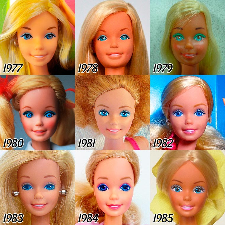 The Evolution of BARBIE from 1959 - 2015 (3)
