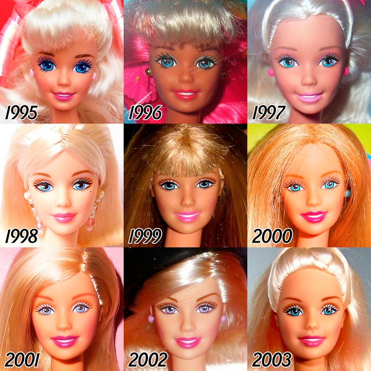 The Evolution of BARBIE from 1959 - 2015 (5)