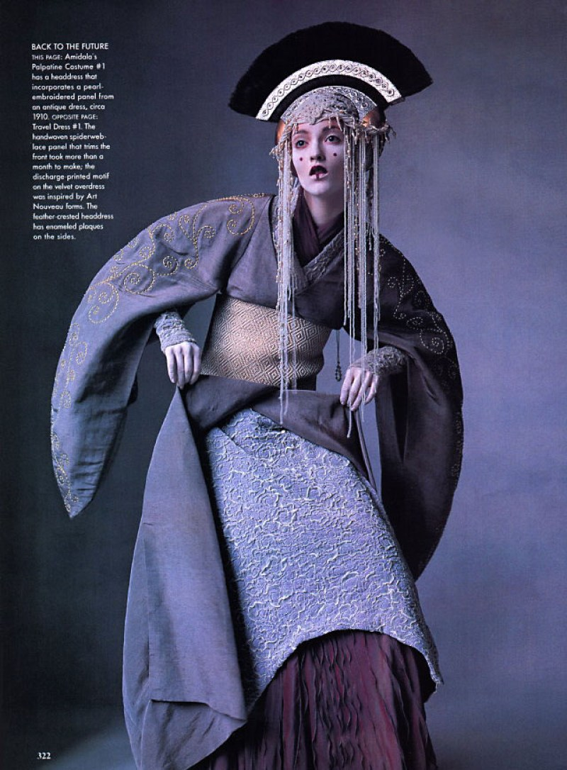 Throwback Editorial Star Wars Couture in Vogue April 1999 (2)