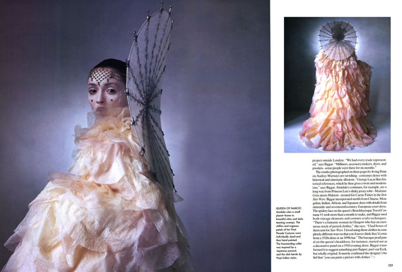 Throwback Editorial Star Wars Couture in Vogue April 1999 (4)