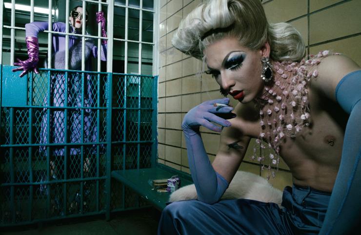 Anna Cleveland, Charlie Himmelstein & Violet Chachki by Steven Klein (1)