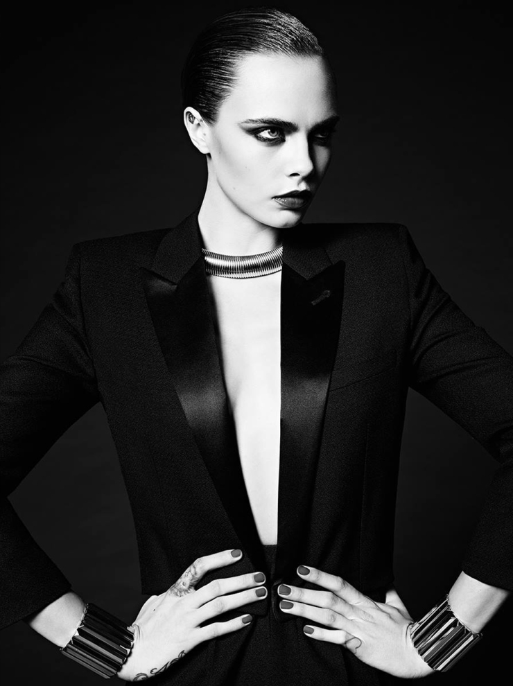 Cara Delevingne for Saint Laurent La Collection De Paris FW 2016 (2)