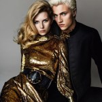 Lucky Blue Smith & Lottie Moss by Mario Testino