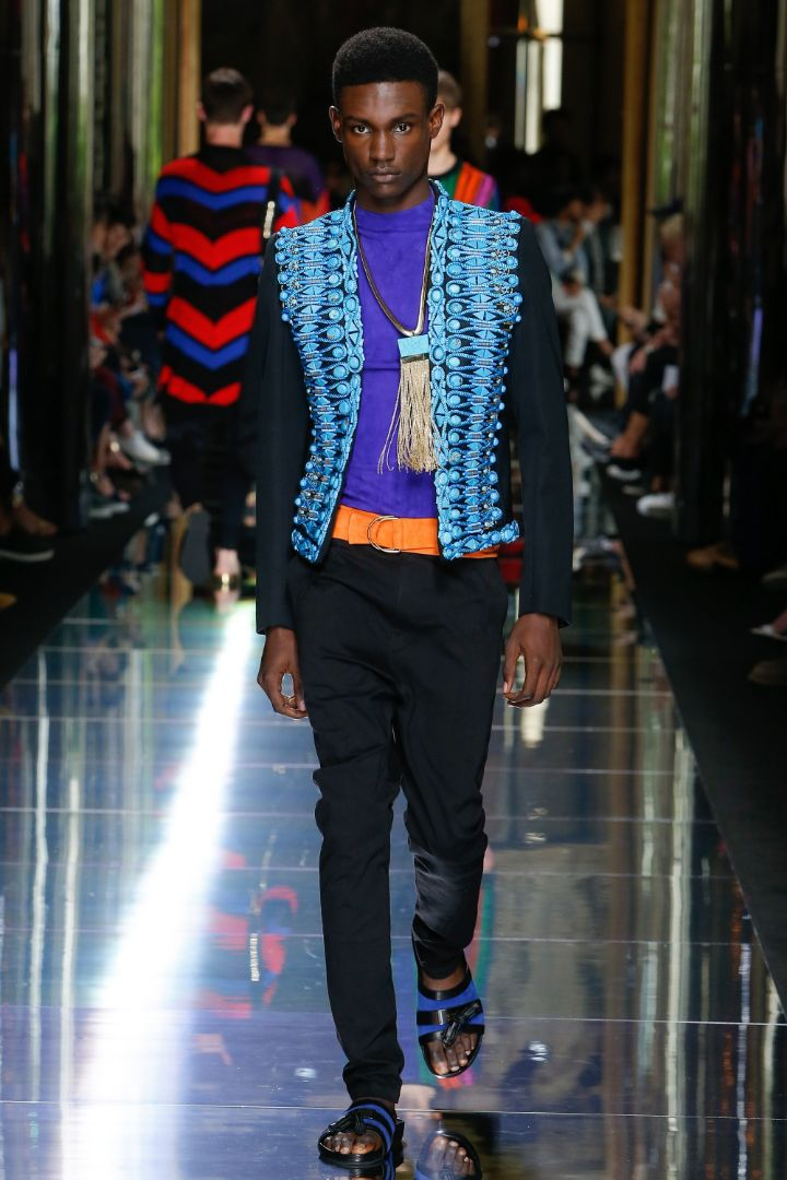 Balmain Menswear SS 2017 Paris (49)