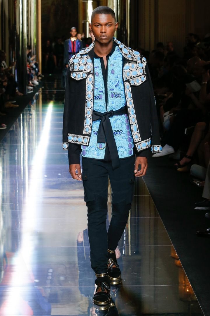 Balmain Menswear SS 2017 Paris (60)
