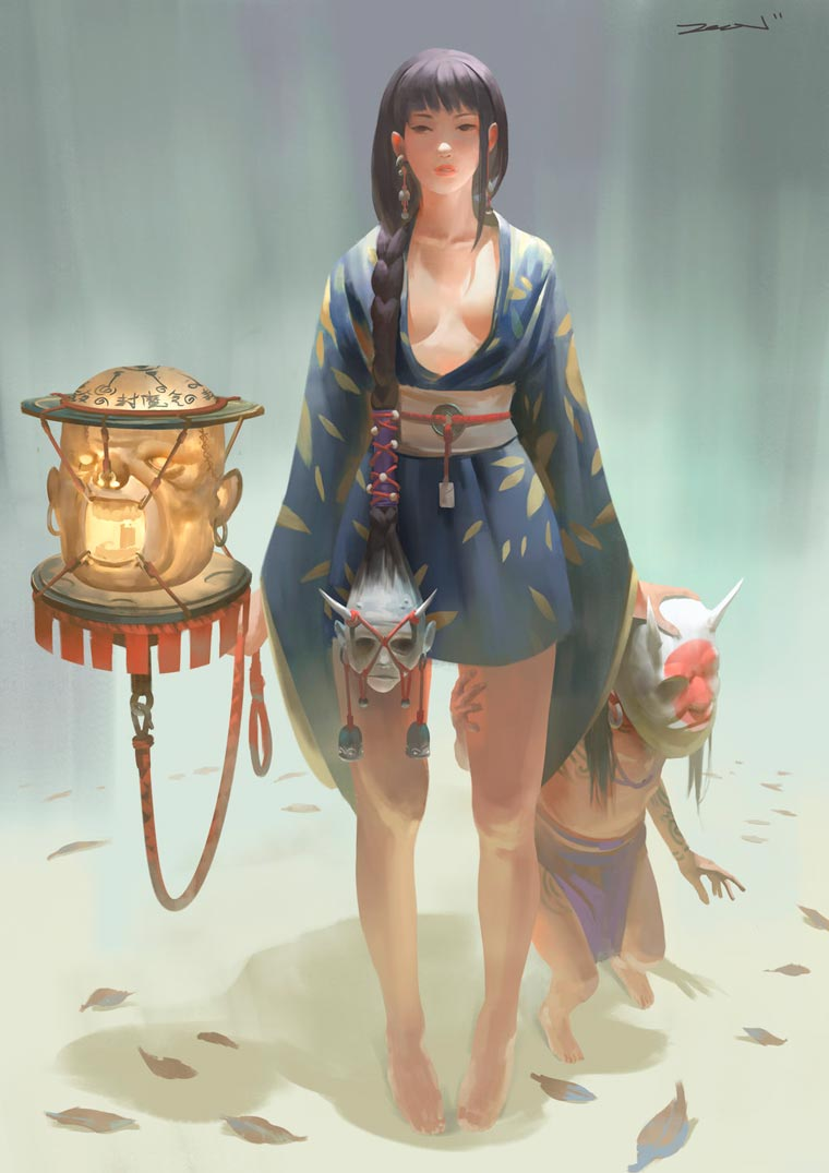 Fantasy Portait Illustrations by Zeen Chin (9)
