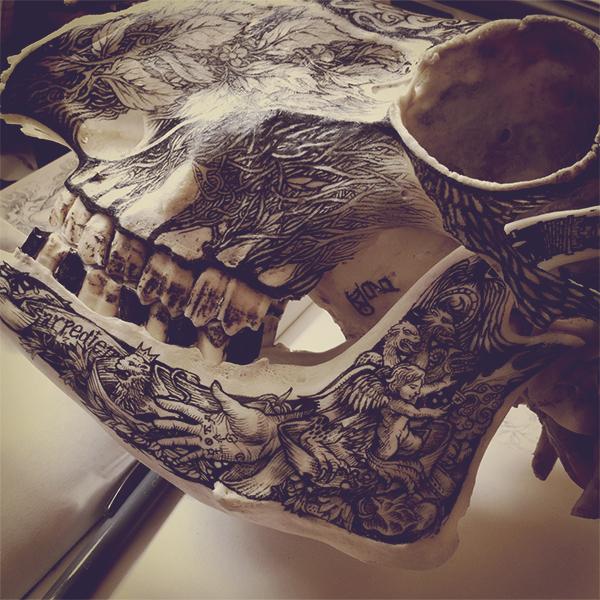 Illustrations on Skulls by DZO Olivier (7)
