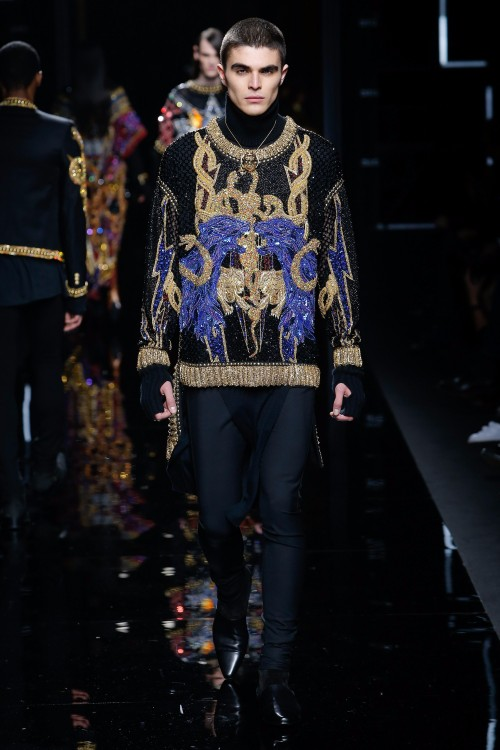 Balmain Menswear FW 2017 Paris69