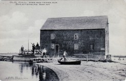 "A post-1907 view of the ""Old Mill, Over 200 Year Old. Sheepshead Bay, N.Y."" {Collection of Joseph Ditta}"