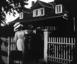 "Screen capture from the 1932 Warner Bros. production, ""The Nickelette."" This image of the Lady Moody House at 27 Gravesend Neck Road was taken between 1905 and 1914."
