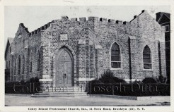 Postcard view of the Coney Island Pentecostal Church, 14 Neck Road, circa 1950s. {Collection of Joseph Ditta}