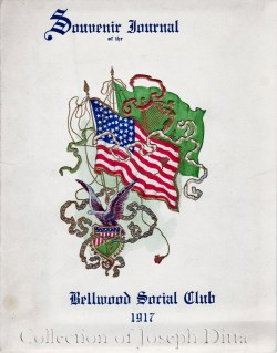 Cover, Souvenir Journal for the Fifth Annual Ball of the Bellwood Social Club of Gravesend, 1917. {Collection of Joseph Ditta}