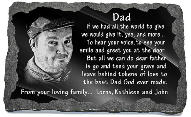 Unique Memorial Gifts Loss Father Personalized Dad Grave