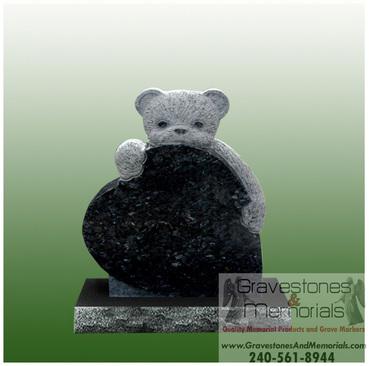 Sd 5339 Baby Teddy Bear Headstone Gravestones And