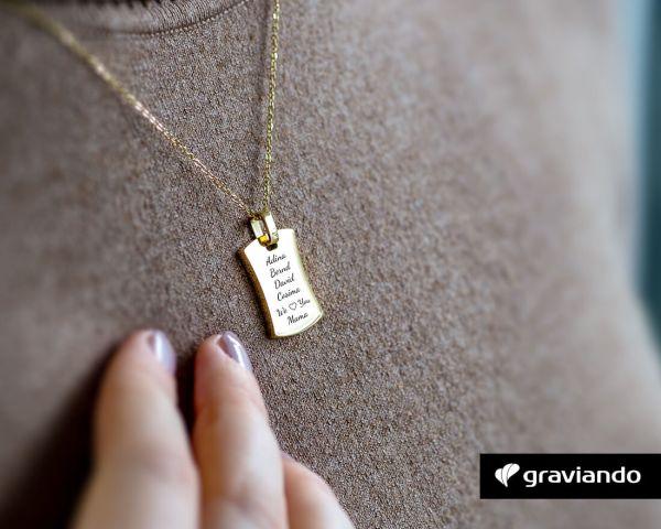 Halskette mit Gravur Pride