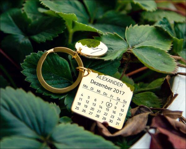 Kalender Schlüsselanhänger Graviando