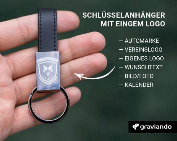 Schlüsselanhänger-mit-Logo Graviando
