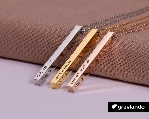 Bar Kette mit Gravur Graviando