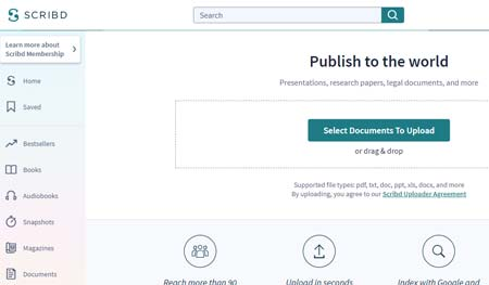 Scribd - Free PDF Submission Site