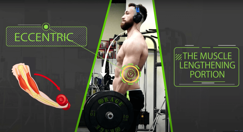 Guy lifting heavy weights for muscle growth