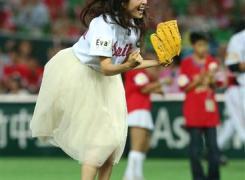 杉本彩の始球式