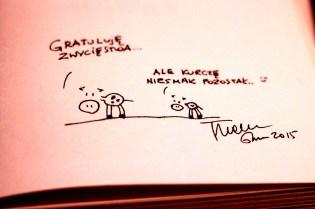 Autograf od autora po wspólnej rozgrywce