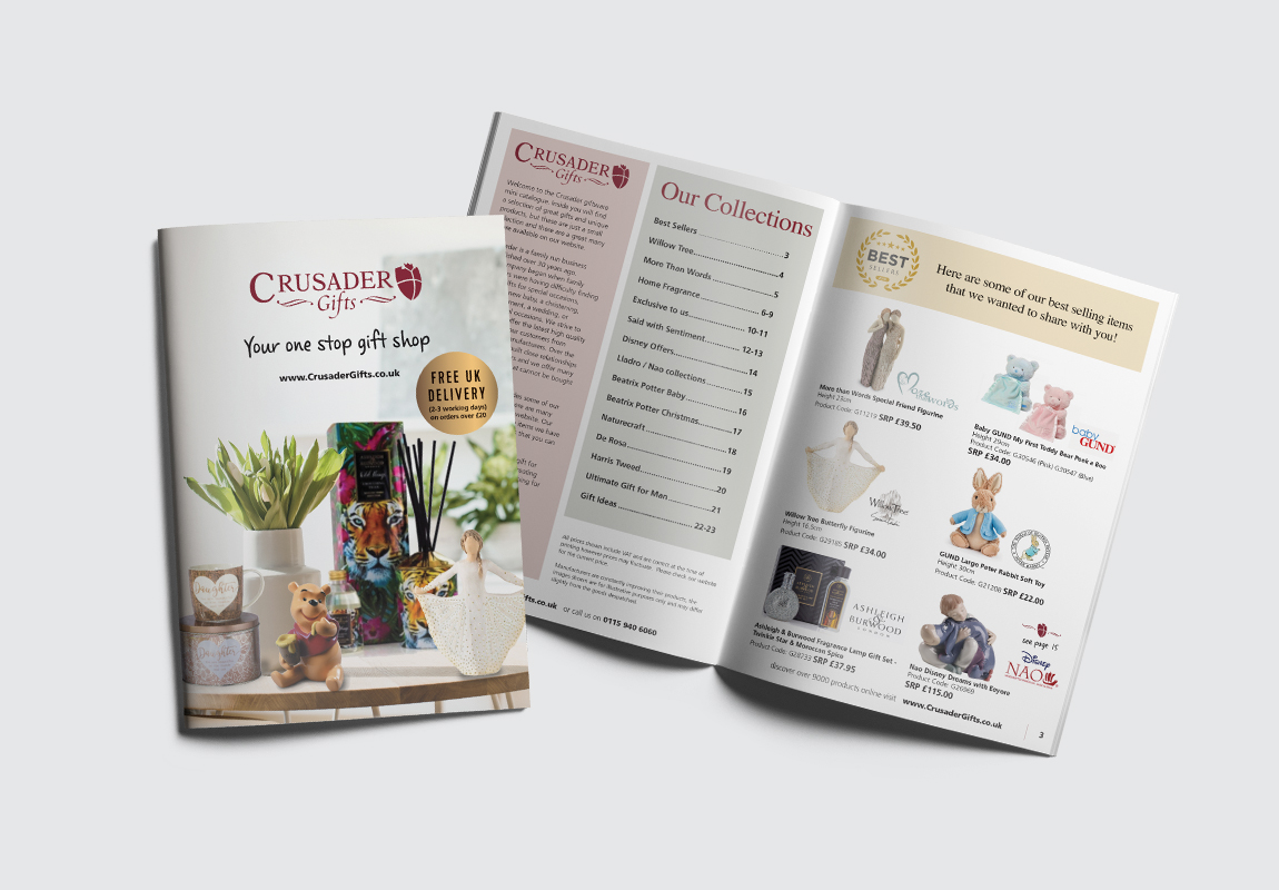 Crusader Gifts Catalogue Cover and Intro Spread