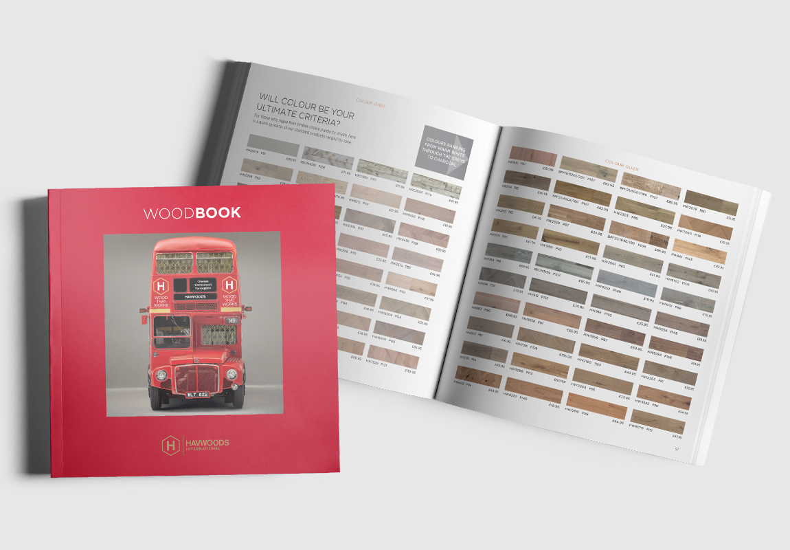Havwoods Catalogue Cover and Colour Options Spread