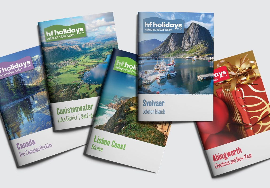 HF Holidays Brochure Cover Collection