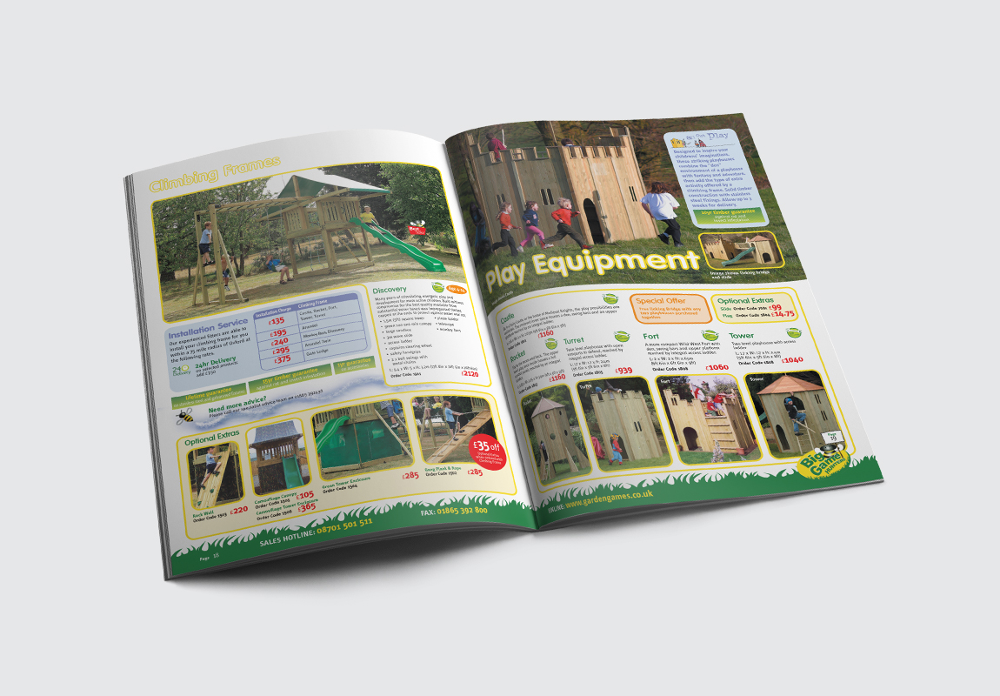 Big Games Hunters Brochure Play Equipment Spread