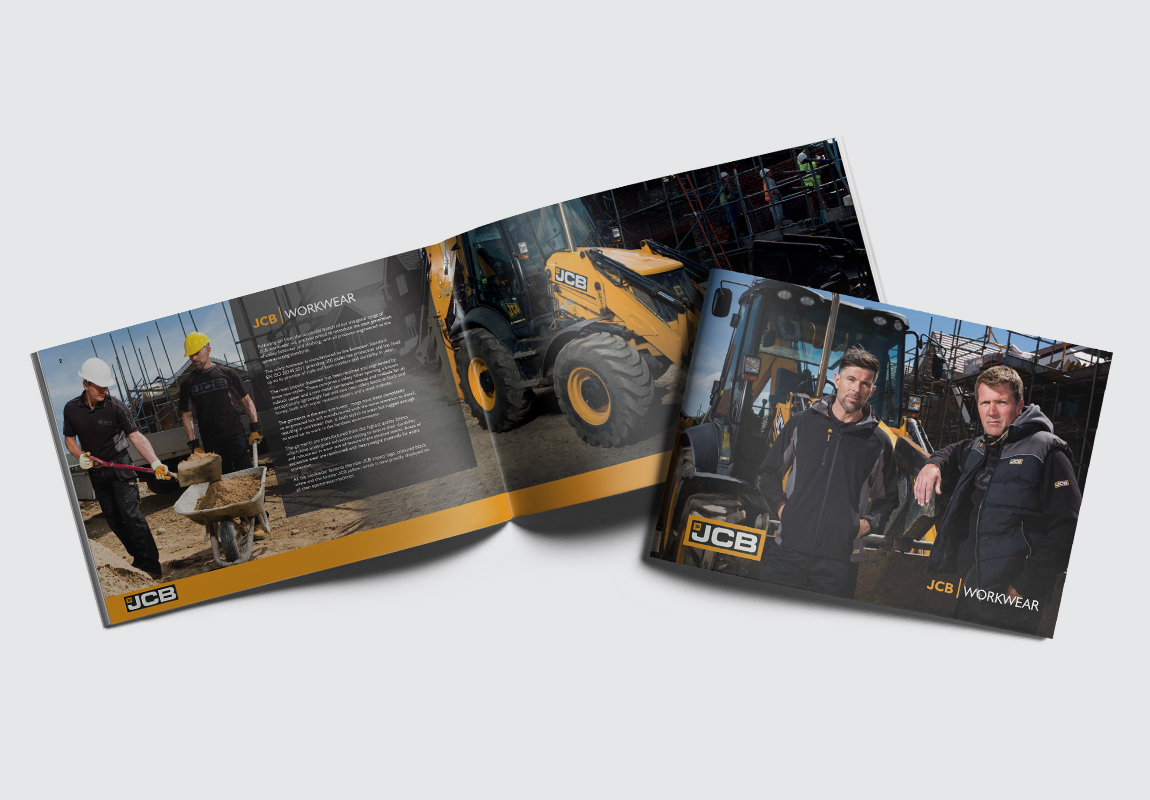 JCB Workwear Brochure Cover and Intro Spread