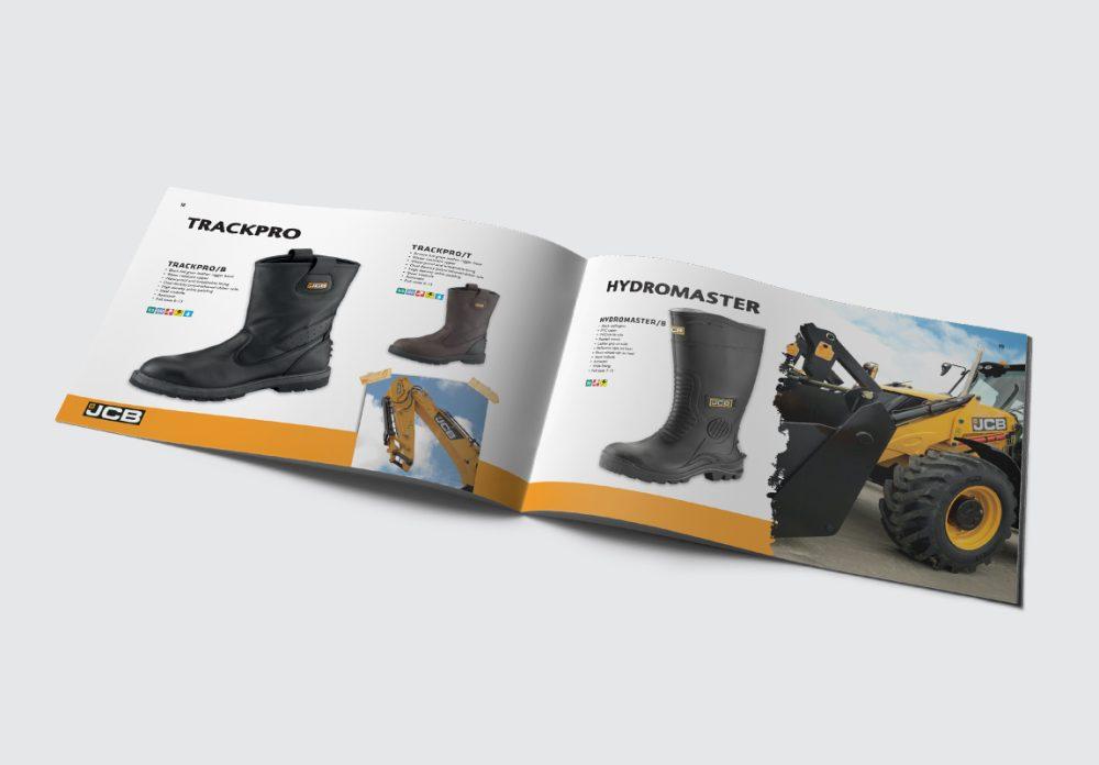 JCB Workwear Brochure Wellingtons Spread