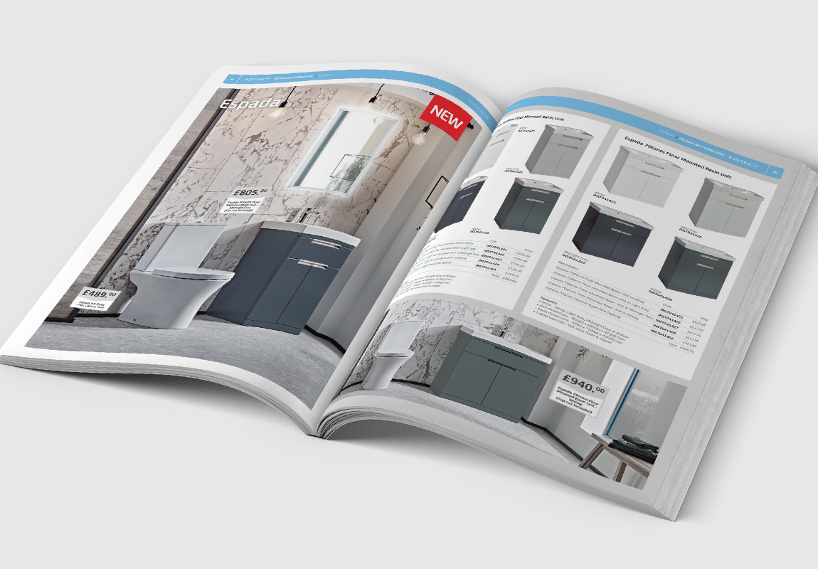 PHG Bathrooms Catalogue Modular Furniture Spread
