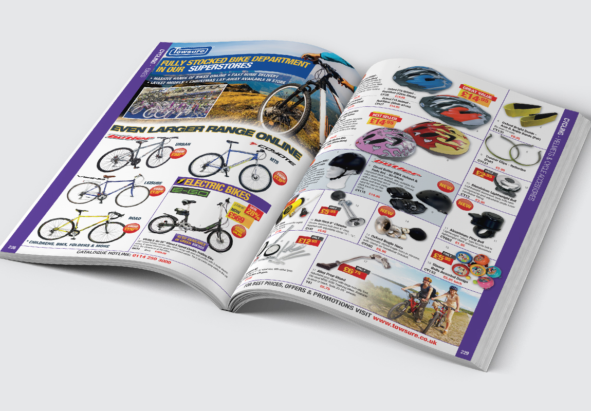 Towsure Catalogue Cycling Spread