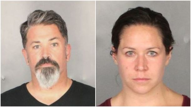 Attorneys Seth Andrew Sutton , 45, and Chelsea Tijerina, 33, were arrested in May on warrants issued by 54th District Court Judge Matt Johnson (Police photos)