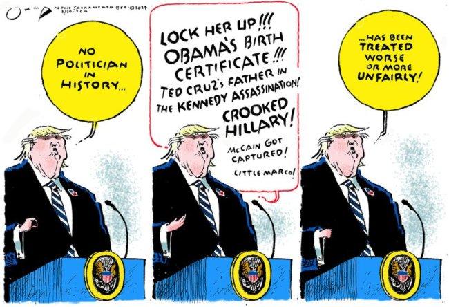 Poor Trump. Everyone's mean to him.