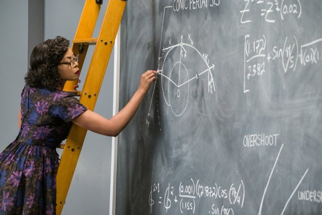 "Mathematician Katherine Johnson (played by Taraji Henson) from ""Hidden Figures."""