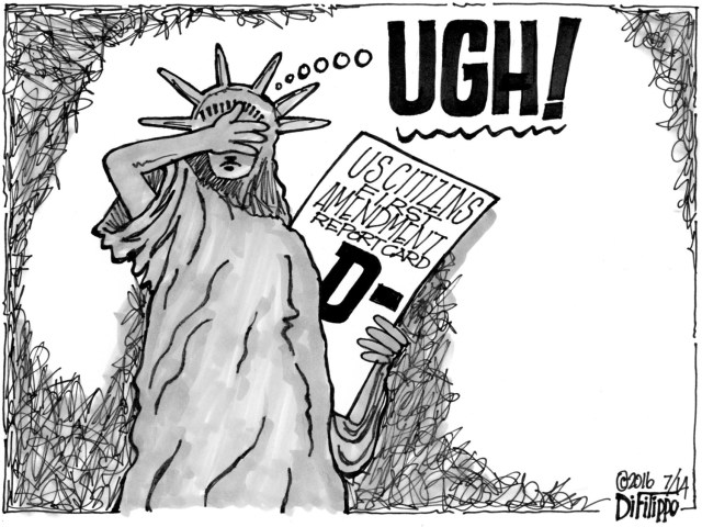 Lady Liberty facepalm.