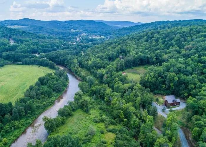 851 Riverview3 village 2 drone