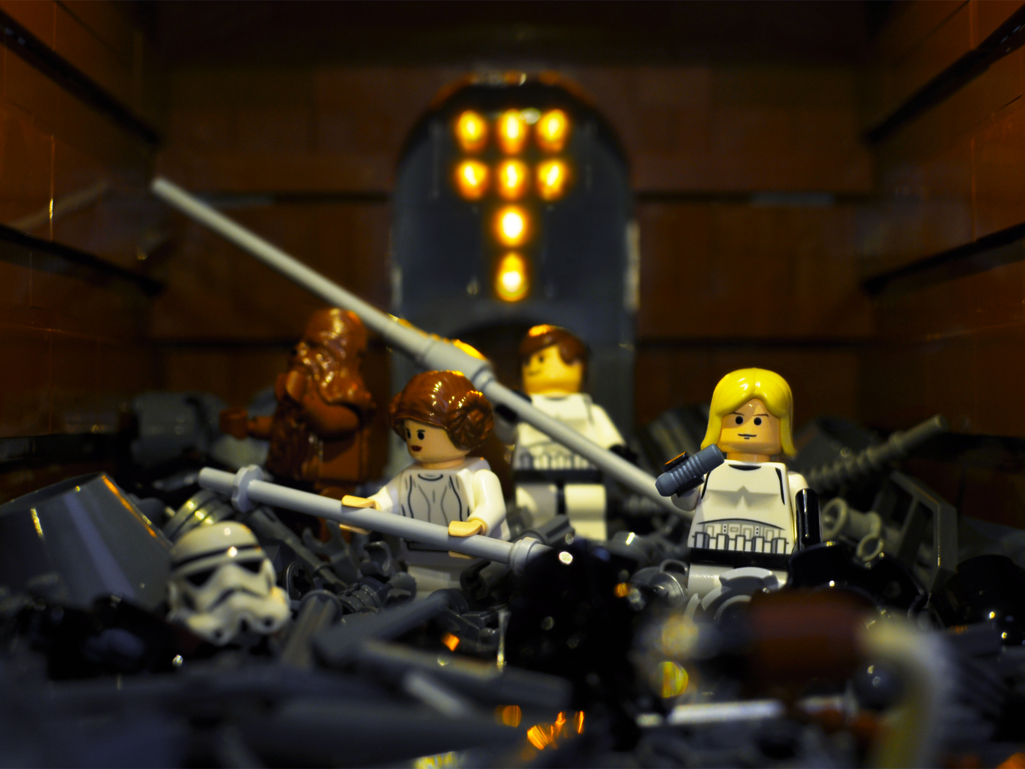 A look at the Lego Star Wars minifigures from 2008.