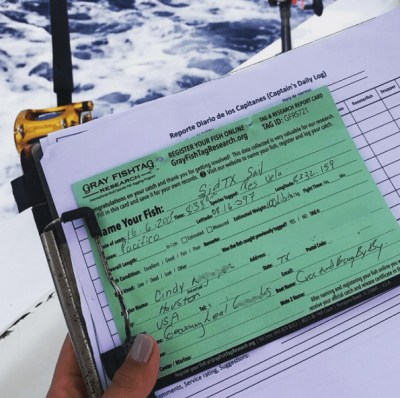 Gray FishTag Registration Card